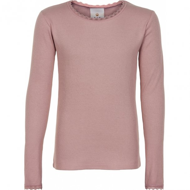 THE NEW - Basis bluse i støvet rosa. Bailey