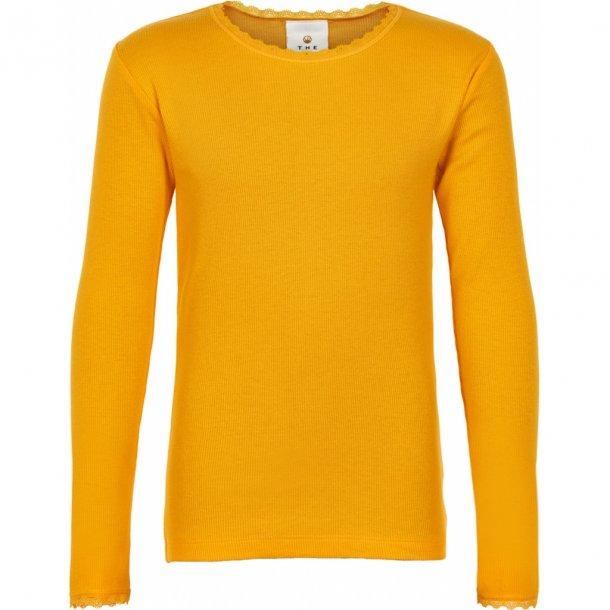 THE NEW - Basis bluse i gul. Bailey