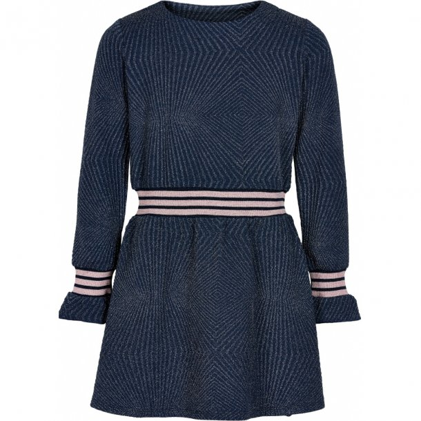 THE NEW - Kjole i blå med sølv. Nicole