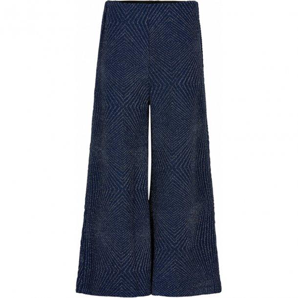 THE NEW - Vide bukser i blå med sølv. Nicole