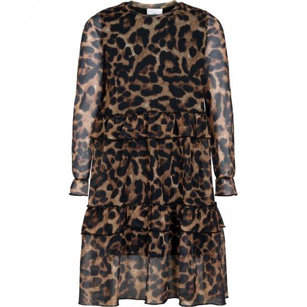 THE NEW - Kjole i leopard mesh. Nixa