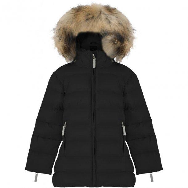 VER DE TERRE - Dun pige frakke i sort A facon med sagafur