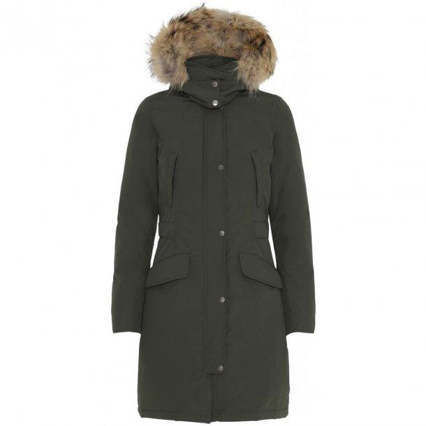 VER DE TERRE - Pige eskimo frakke i olivengrøn med dun og sagafur pels