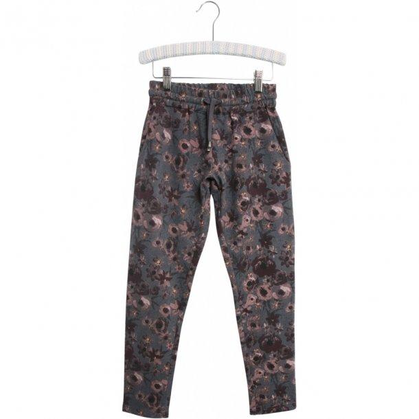 WHEAT - Sweat bukser i grå med rosa blomster. Damila