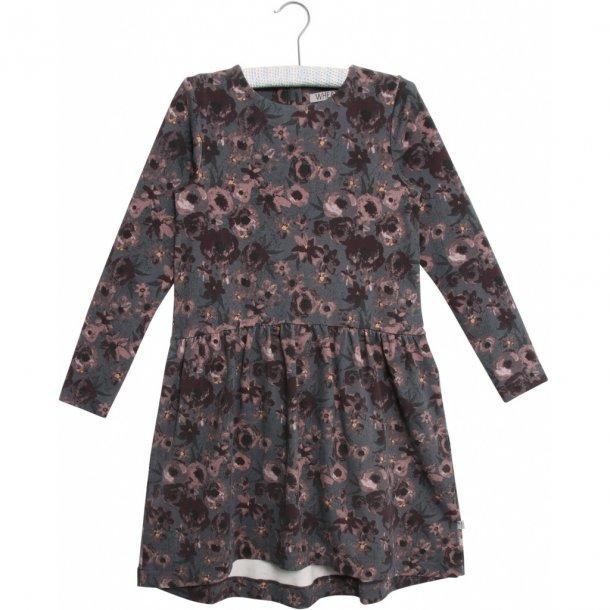 WHEAT - Kjole i sweat i grå med rosa blomster. Verena