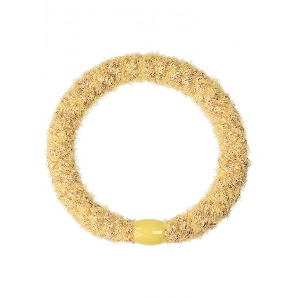 KNEKKI - Elastikker i velvet glitter yellow