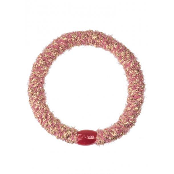 KNEKKI - Elastik i glitter old pink