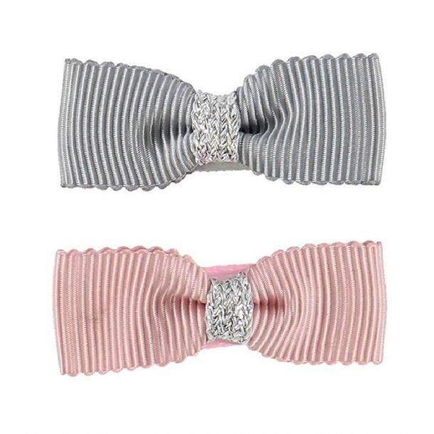 SOFIE SCHNOOR - 2-Pack hårspænder i rosa og grå