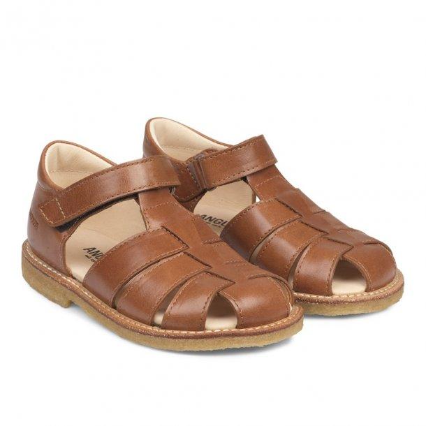 ANGULUS - Sandal i Cognac skind NY