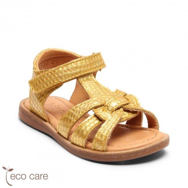 BISGAARD - Åben sandal i gul-glimmer flet. NY