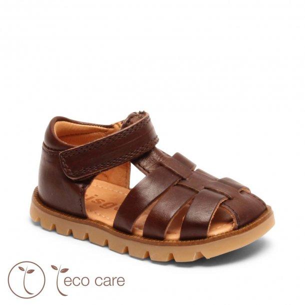 BISGAARD - Sandal i brunt skind. NY