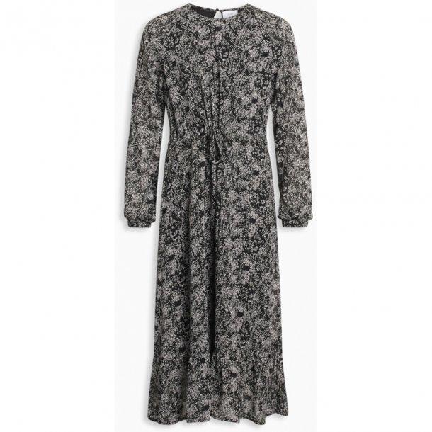 GRUNT - Lang kjole i sortmønstret. Abbi NY