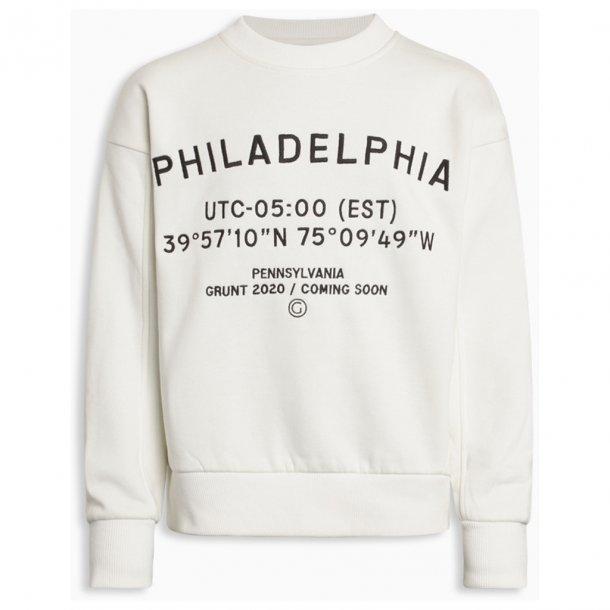 GRUNT - Sweatshirt i cremehvid. Alberte NY