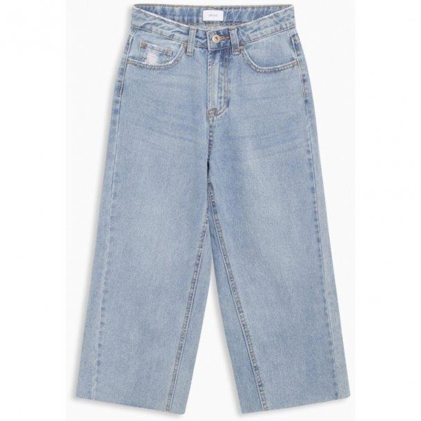 GRUNT - Vide stumpede lyse jeans