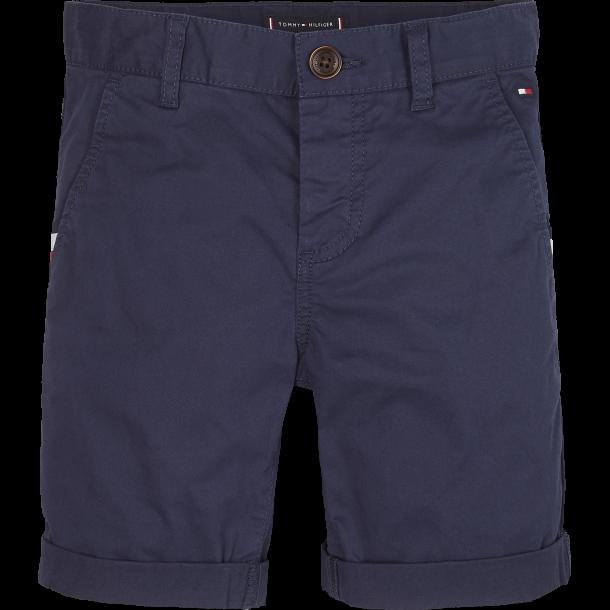 TOMMY HILFIGER - Chino-shorts i navy. NY