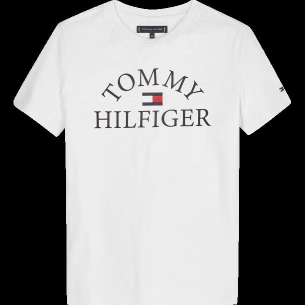 TOMMY HILFIGER - Kortærmet t-shirt i hvid med Tommy