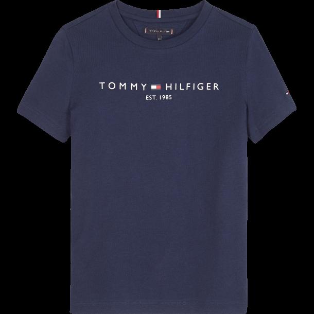 TOMMY HILFIGER - Kortærmet t-shirt i blå med logo