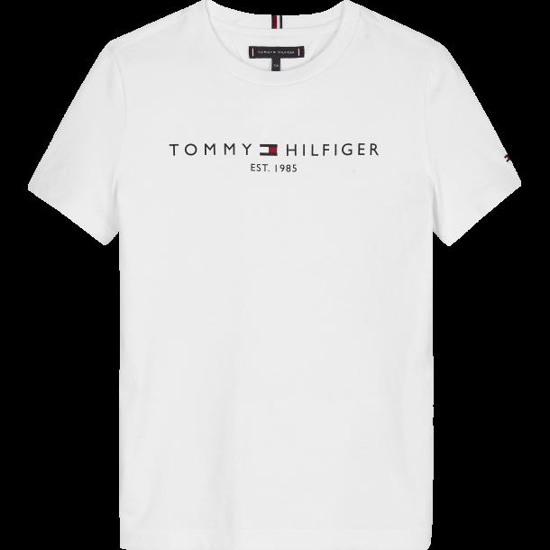 TOMMY HILFIGER - Kortærmet t-shirt i hvid med logo