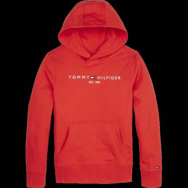 TOMMY HILFIGER - Sweatshirt med hætte i rød