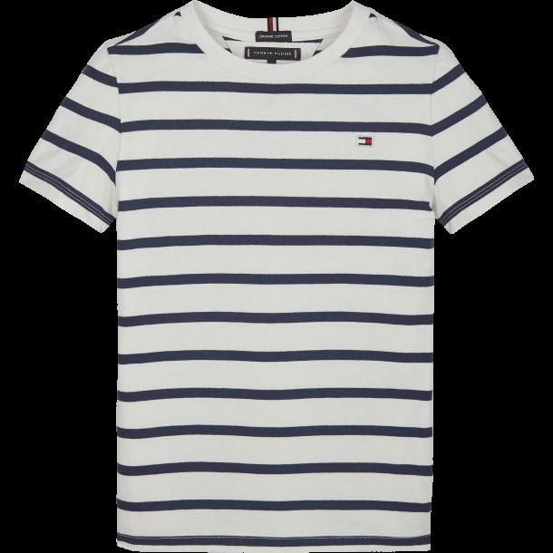 TOMMY HILFIGER - Kortærmet t-shirt i blå-hvid stribet