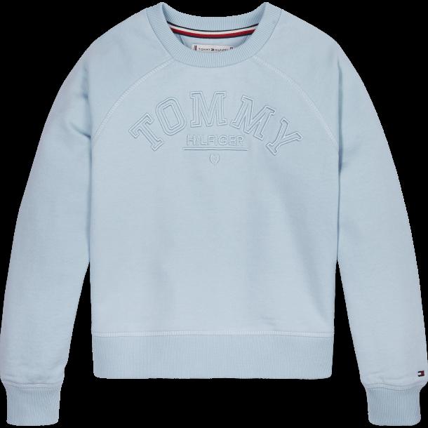 TOMMY HILFIGER - Sweatshirt i lyseblå. Pige