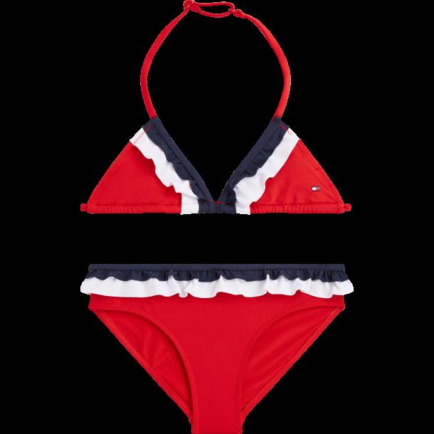 TOMMY HILFIGER - Bikini i rød med flæse