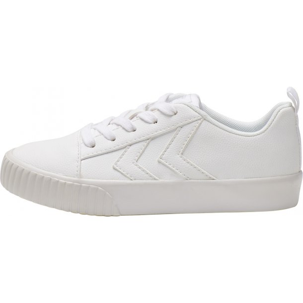 HUMMEL Hvid sneakers med elastik snøre. Base Court