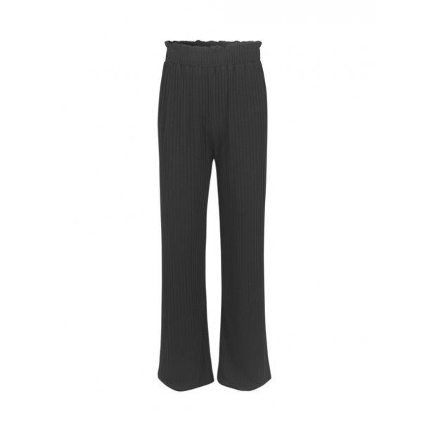 MADS NØRGAARD - Bukser i sort plisse. Papina