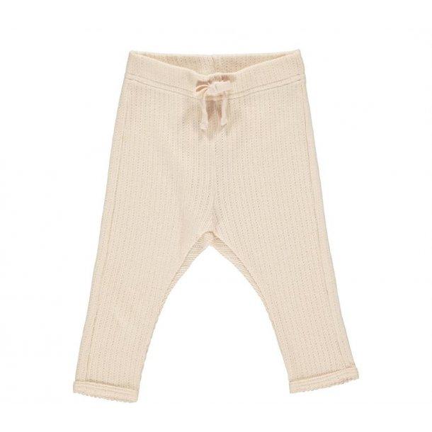 MAR MAR - Baby bukser med hulmønster i Peach Cream. Pitti