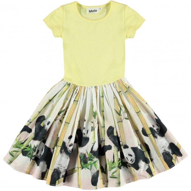 MOLO - Kjole i lys gul med panda. Cissa  NY