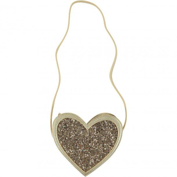 MOLO - Taske i hjerte-gul- glitter. NY