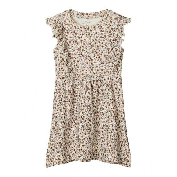 NAME IT - Kjole i blød blomstret  jersey. Mini