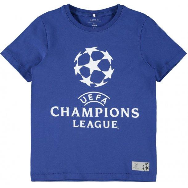 NAME IT - T-Shirt med Champions League i blå