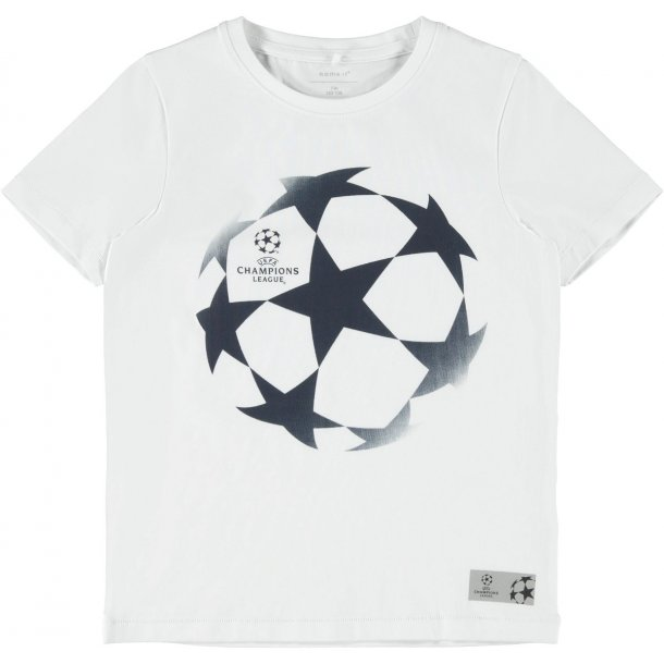 NAME IT - T-Shirt med Champions League i hvid