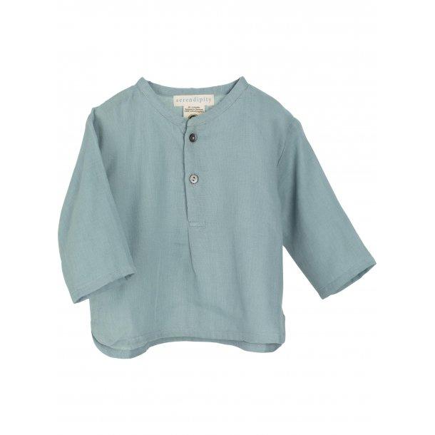 SERENDIPITY - Baby skjorte i dusty blue
