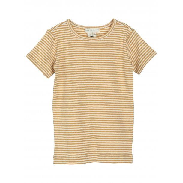 SERENDIPITY - T-Shirt i honey-offwhite stribe