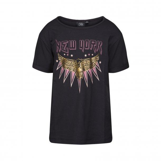 SOFIE SCHNOOR - T-Shirt i sort med Newyork. NY