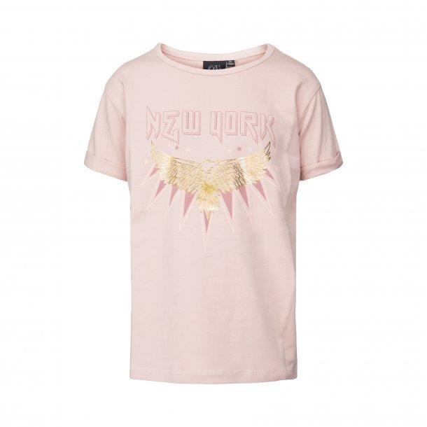 SOFIE SCHNOOR - T-Shirt i Light Rose med Newyork. NY