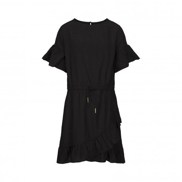 SOFIE SCHNOOR - Kjole i sort med bindebånd. NY