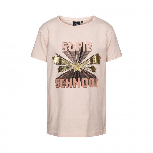 SOFIE SCHNOOR - T-Shirt i camero rose med logo
