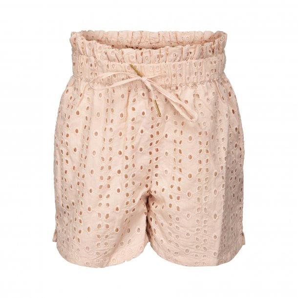SOFIE SCHNOOR - Shorts i rosa broderi anglaise