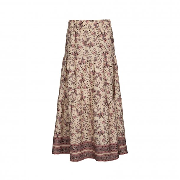 SOFIE SCHNOOR - Lang nederdel med blomster