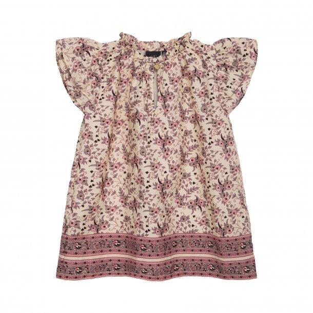 SOFIE SCHNOOR - Bluse i creme med blomst