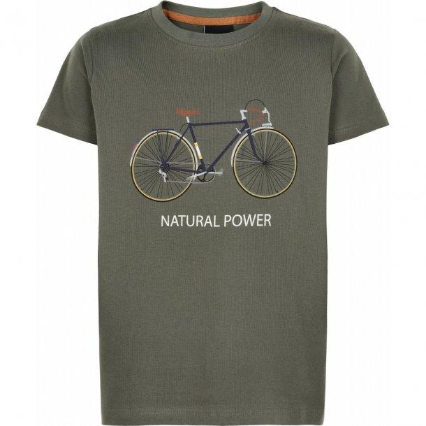 THE NEW - T-Shirts i armygrøn med cykel. Pico