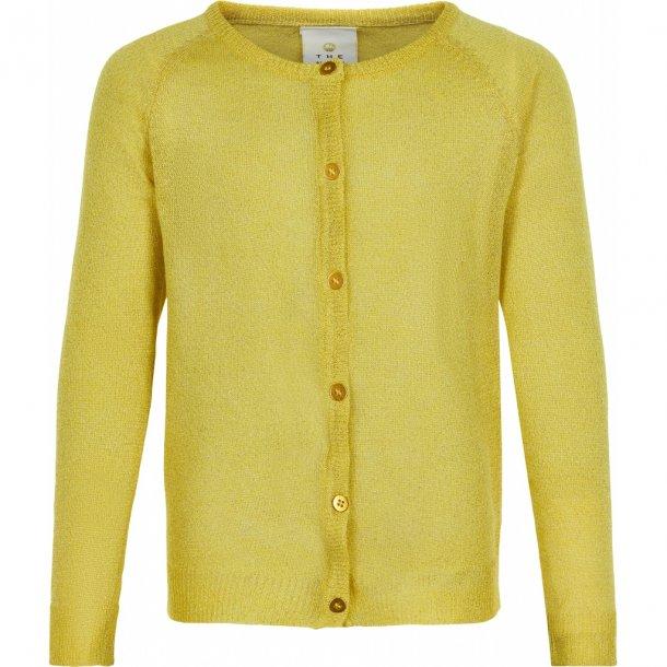 THE NEW - Cardigan i gul glimmer. Aya