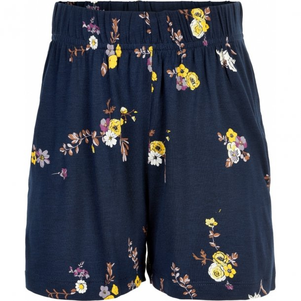 THE NEW - Shorts i blå med gule blomster. Paula