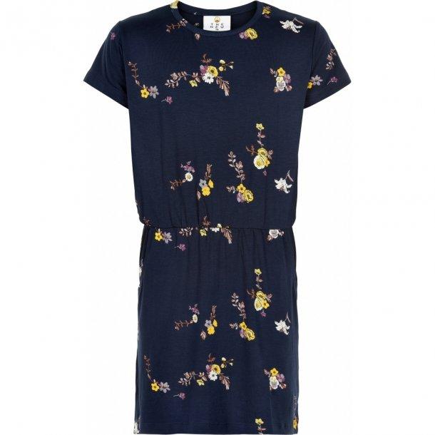 THE NEW - Kjole i blå med gule blomster. Paula