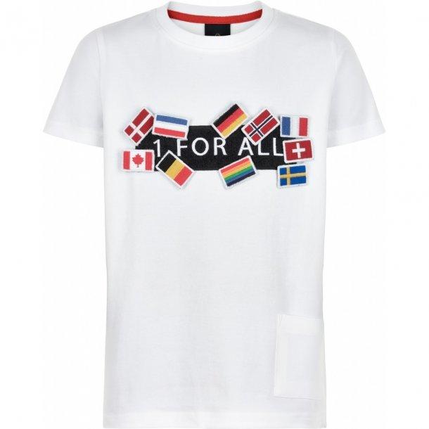 THE NEW - T-Shirt med flag. OL