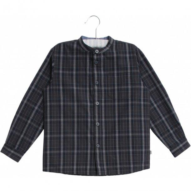 WHEAT - Skjorte med kinakrave i ternet
