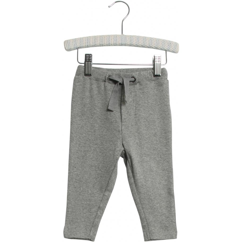 WHEAT Baby joggingbukser i gråmelange. Manfred